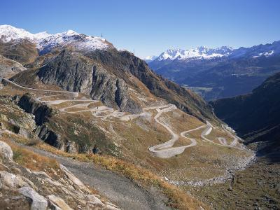 St. Gotthard Pass, with First Autumn Snow on the Mountains, in Ticino, Switzerland