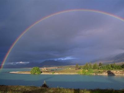 Rainbow over Lake Tekapo, Canterbury, South Island, New Zealand, Pacific