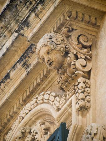 Baroque Balcony, Palazzo Nicolaci, Noto, Sicily, Italy, Europe