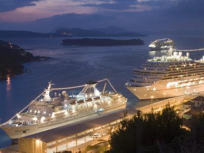 Cruise Ships in Port, Dubrovnik, Dalmatia, Croatia, Adriatic, Europe