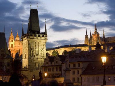 Little Quarter Bridge Tower, St. Vitus's Cathedral, Prague, Czech Republic