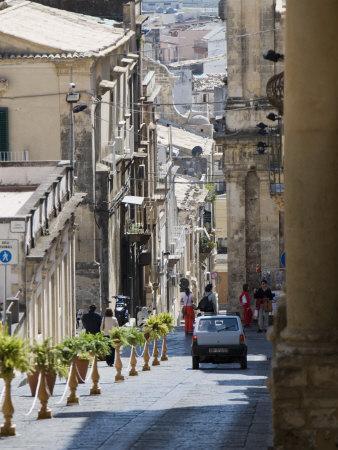 Steep Street, Noto, Sicily, Italy, Europe