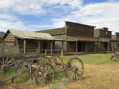 Old Western Wagons from the Pioneering Days of the Wild West at Cody, Montana, USA