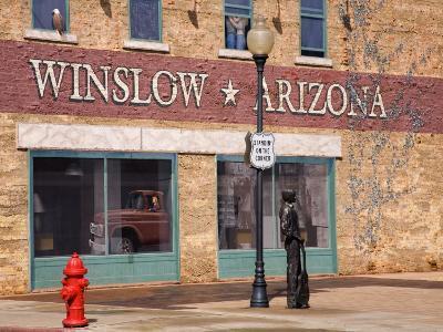 Standing on the Corner Park, Historic Route 66, Winslow, Arizona, USA