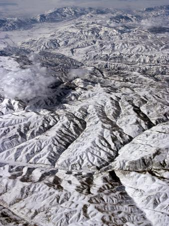 Aerial View of the Rocky Mountains, United States of America, North America