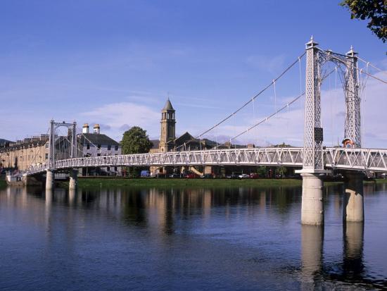 Pedestrian Bridge Over River Ness Inverness Highland
