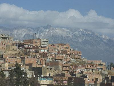 Village at the Base of the Kabylie Mountains, Algeria, North Africa, Africa