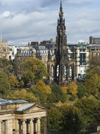 Walter Scott Memorial, Edinburgh, Scotland, United Kingdom, Europe