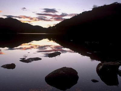 Loch Achray at Sunset, Part of Loch Lomond and the Trossachs National Park, Stirlingshire, Scotland