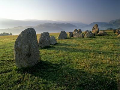 Castlerigg Stone Circle at Dawn, Near Keswick, Lake District National Park, Cumbria, England