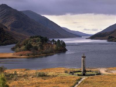 Loch Shiel and Glenfinnan Monument, Argyll, Highland Region, Scotland, United Kingdom, Europe