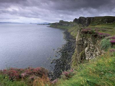 Basaltic Cliffs Dominating Raasay Sound, Trotternish, Isle of Skye, Inner Hebrides, Scotland