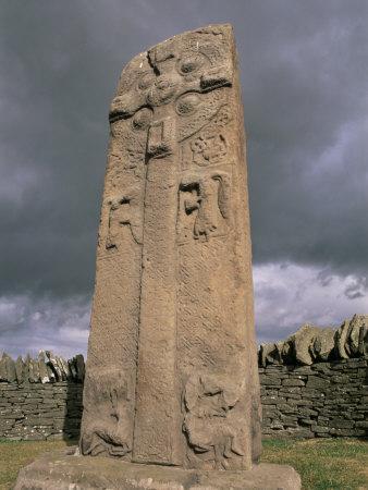 Early Christian Pictish Cross, Aberlemno, Angus, Scotland, United Kingdom, Europe