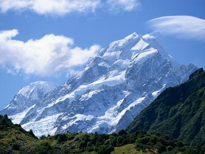 Mount Cook, at 3755M, the Highest Mountain in N.Z., Canterbury, South Island, New Zealand, Pacific