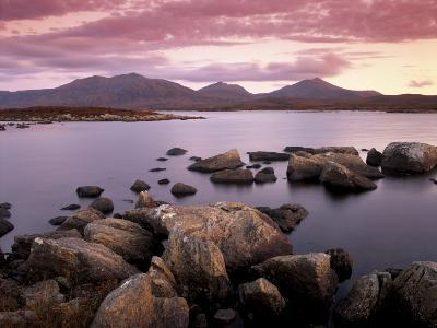 Loch Druidibeg Nature Reserve at Sunset, South Uist, Outer Hebrides, Scotland, UK