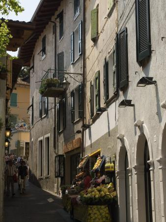Fruit Shop in the Old Town of Limone, Lake Garda, Lombardy, Italy, Europe