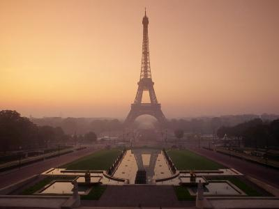 Eiffel Tower at Dawn, Paris, France, Europe