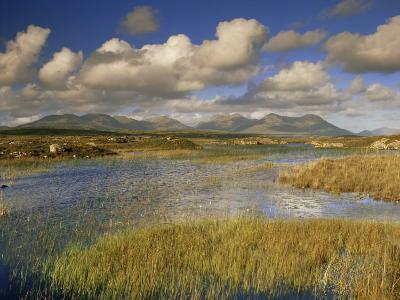 Ballynahinch and the Twelve Pins, Connemara, County Galway, Connacht, Republic of Ireland