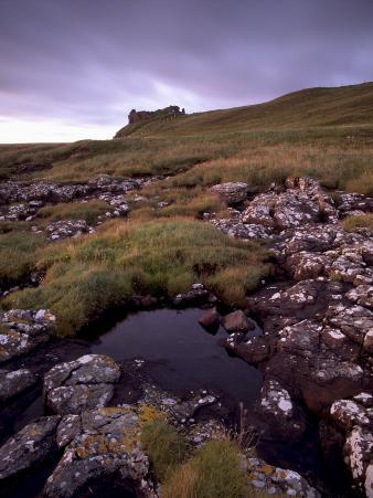 Ruins of Macdonalds' Duntulm Castle, Trotternish, Isle of Skye, Highland Region, Scotland, UK