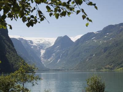 Glacier Lake Above Olden, Fjordland, Norway, Scandinavia, Europe