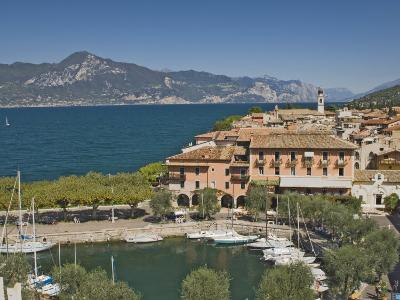 Harbour and Town of Torre Del Benaco, Lake Garda, Veneto, Italian Lakes, Italy
