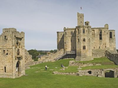 Warkworth Castle, Northumbria, England, United Kingdom, Europe