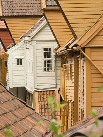 Wooden Buildings of Bryggen, UNESCO World Heritage Site, Bergen, Norway, Scandinavia, Europe
