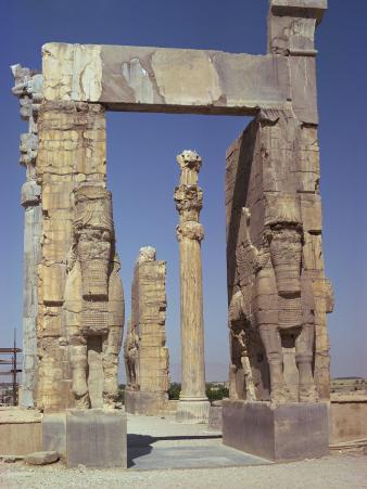 Gateway of Xerxes, Persepolis, UNESCO World Heritage Site, Iran, Middle East