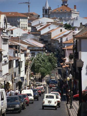 Main Street in Angra Do Heroismo, Terceira, Azores, Portugal, Atlantic, Europe
