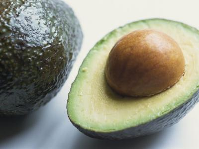 Close-Up of Half an Avocado Pear, with Stone