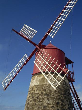 Restored Mill, Madalena, Pico, Azores, Portugal, Europe