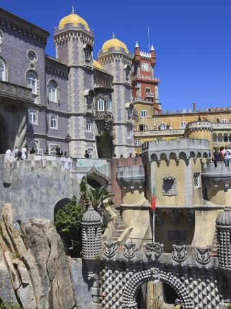 Pena National Palace, Sintra, UNESCO World Heritage Site, Portugal, Europe