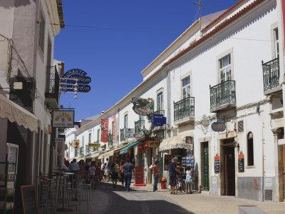 Street in the Old Town of Lagos, Algarve, Portugal, Europe