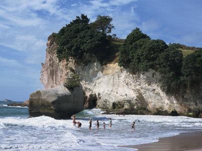 Stacks and Arches, Whitianga White Chalk Cliffs, Coromandel, North Island, New Zealand