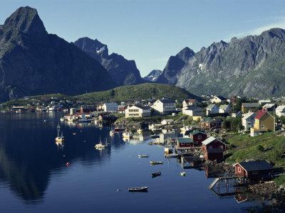 Hamroy Fishing Village During Summer, Lofoten Islands, Arctic, Norway, Scandinavia, Europe