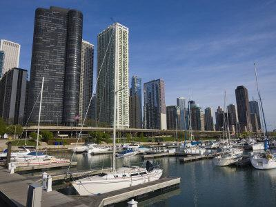 Yacht Marina, Chicago, Illinois, United States of America, North America