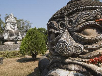 Buddha Park, Xieng Khuan, Vientiane, Laos, Indochina, Southeast Asia