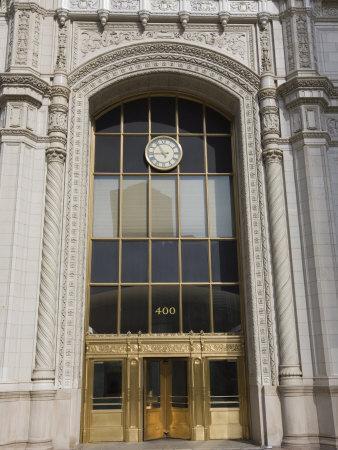 Elegant Entrance to the Wrigley Building, North Michigan Avenue, Chicago, Illinois, USA