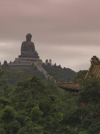 Big Buddha Statue, Po Lin Monastery, Lantau Island, Hong Kong, China