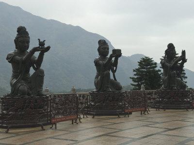 Bodhisattvas around the Big Buddha Statue, Lantau Island, Hong Kong, China