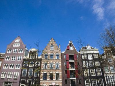 Gabled Houses on the Leidsegracht Canal, Amsterdam, Netherlands, Europe