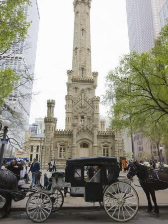 Historic Water Tower, North Michigan Avenue, Chicago, Illinois, USA