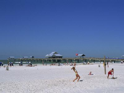 Beach and Pier, Clearwater Beach, Florida, United States of America, North America