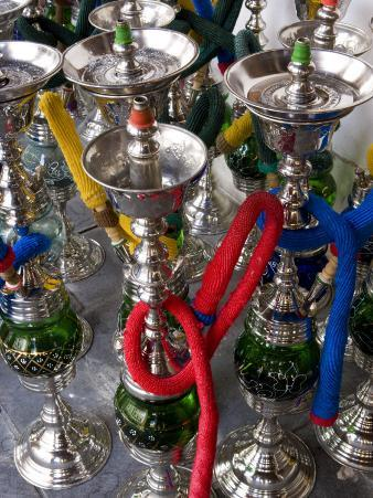 Hubble Bubble Water Pipes for Sale in the Souq Waqif, Doha, Qatar, Middle East