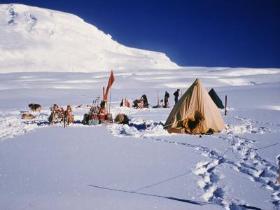 Camp at Bottom of Leneketali, Same Site as Amundsen, Antarctica, Polar Regions