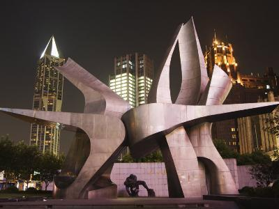 Modern Art Installation to Commemorate the 530 Revolution, Renmin Square, Shanghai, China