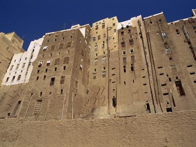 Backs of Mud Brick Houses and Toilets, Shibam, Wadi Hadramaut, Yemen, Middle East