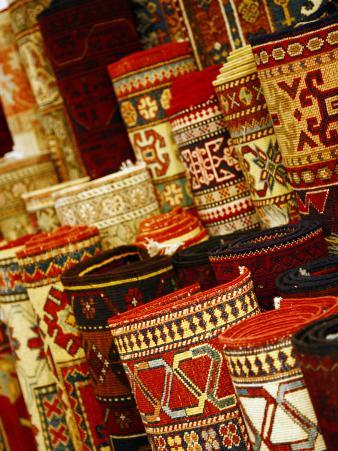 Carpets for Sale in the Grand Bazaar, Istanbul, Turkey, Europe