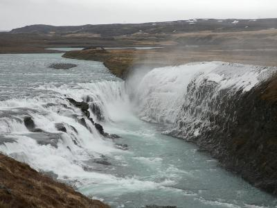 Gullfoss Waterfall, Southern Iceland, Polar Regions