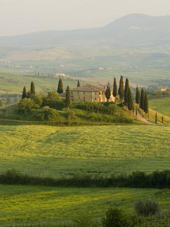 Country House, Il Belvedere, San Quirico D'Orcia, Val D'Orcia, Siena Province, Tuscany, Italy